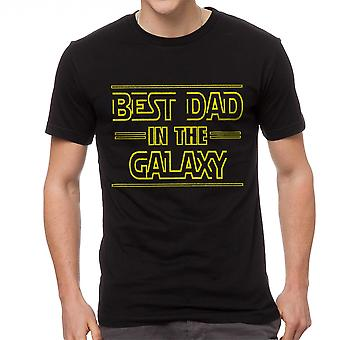 Funny Best Dad In The Galaxy Empire Graphic Men's Black T-shirt