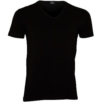 Replay Classic Stretch Cotton V-Neck T-Shirt, Black