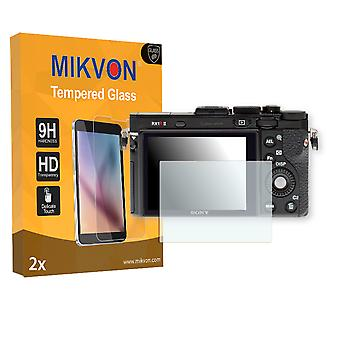 Sony DSC-RX1R II Screen Protector - Mikvon flexible Tempered Glass 9H (Retail Package with accessories)
