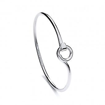 Cavendish French Sterling Silver Pigtail Clasp Bangle