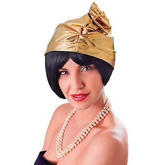 Cloche 20 's Hat. Goud