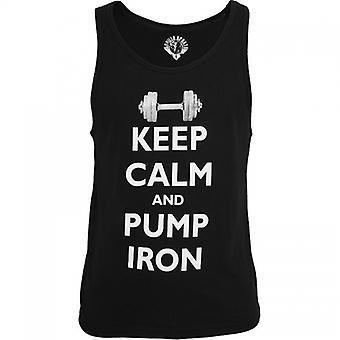 Gorilla Sports Tank Top Keep Calm and pump iron