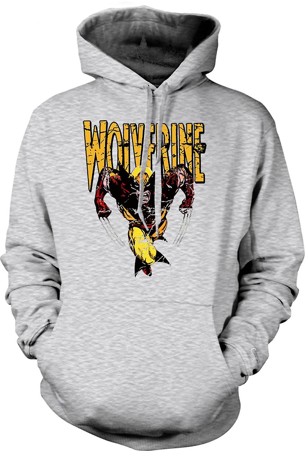 Mens Hoodie - Wolverine - klassische Comic-Held