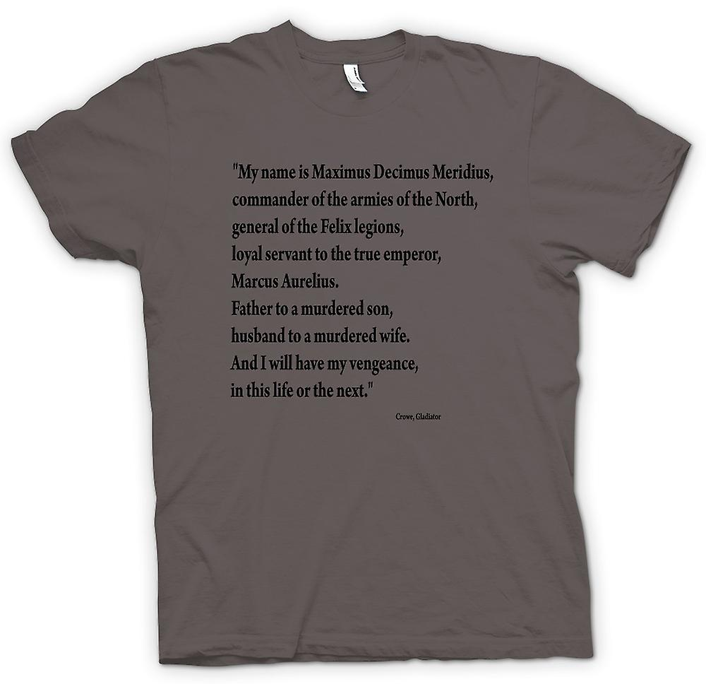 T-shirt-gladiatore - preventivo - Russell Crowe