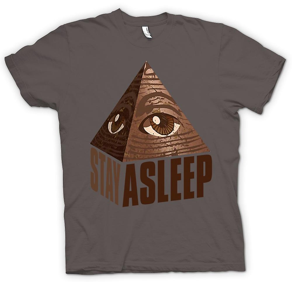 Womens T-shirt - Illuminati Stay Asleep