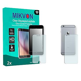 Apple iPhone 6s Plus Screen Protector - Mikvon Clear (Retail Package with accessories) (3x FRONT / 3x BACK) (reduced foil)