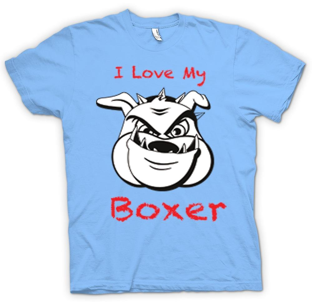 Hommes T-shirt - I Love My Dog Boxer