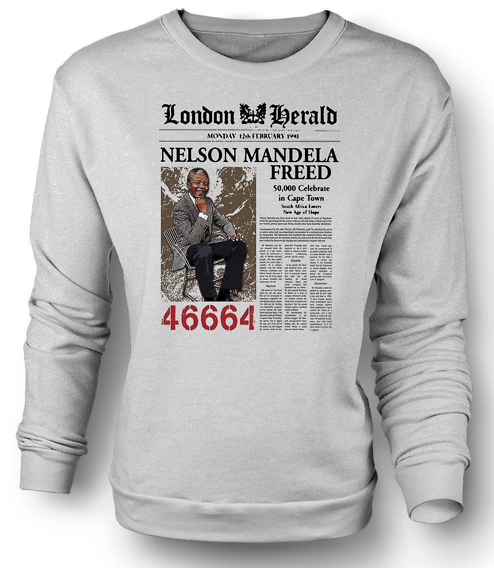 Mens Sweatshirt Nelson Mandela frigjort 46664 - ANC - frihet