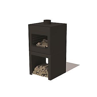 Burni Thor tuinhaard cortenstaal 55x50x105 cm - zwart