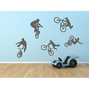 Set of BMX Bikes Boys Bedroom Wall Sticker