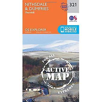OS Explorer kaart actief (321) Nithsdale en Dumfries (OS Explorer actieve kaart)