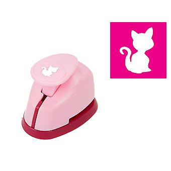 Mini 0.9cm Kitten or Cat Lever Action Craft Punch | Papercraft Punches