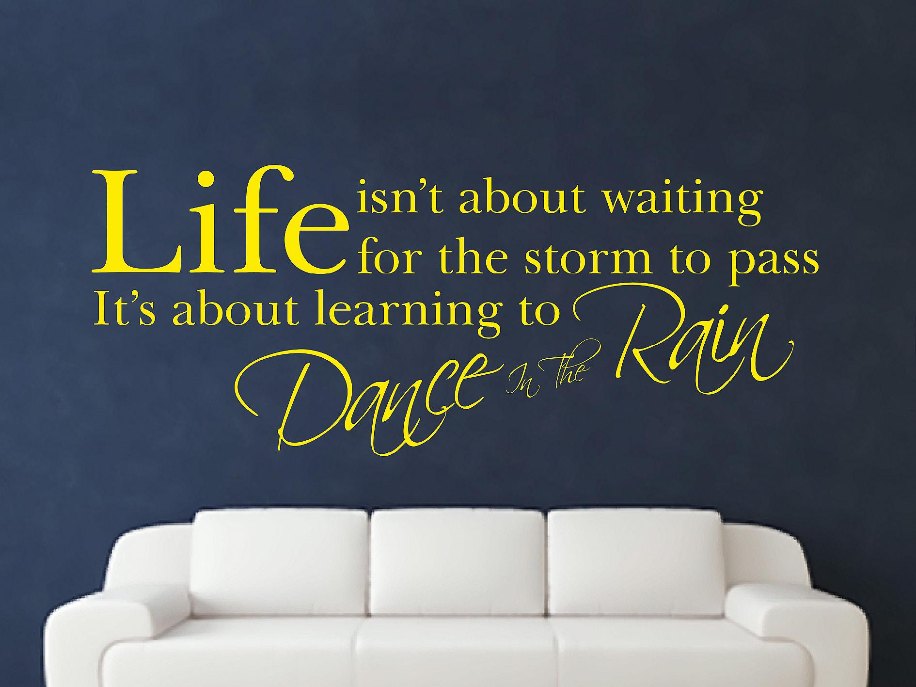 Dance In The Rain Wall Art Sticker - Bright Yellow