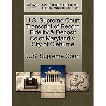 US Supreme Court udskrift af post troskab depositum Co Maryland v. City på Cleburne af US Supreme Court
