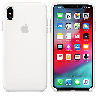 Original packaging Apple silicone Micro Fiber cover case for iPhone XS Max - white