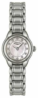 Rotierende Womens Stone Set Edelstahl LB02601/07-Watch