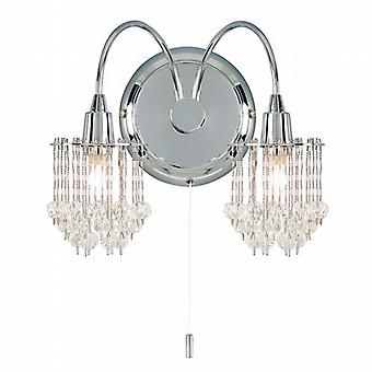 Endon 850 850-2CH Modern Wall Lights Double