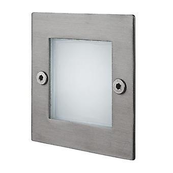 Firstlight-LED 9 ljus vägg & steg ljus rost fritt stål IP44-8102ST