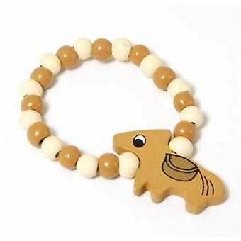 The Olivia Collection Childrens Wooden Beads Elasticated Horse Bracelet