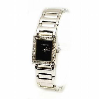 Solo Crystal Design Silver Tone Strap Ladies Fashion Watch 3292792