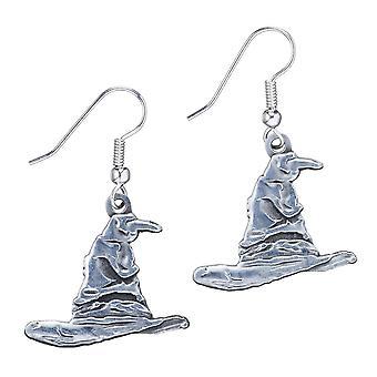Harry Potter Sølv belagt sortering hat drop øreringe