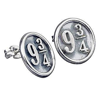 Harry Potter Sterling Silver Platform 9 3/4 Stud Earrings