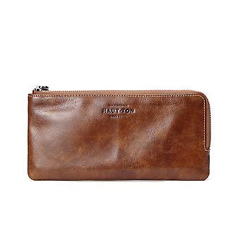 Hautton Leather Tan Clutch Style Wallet 8.5