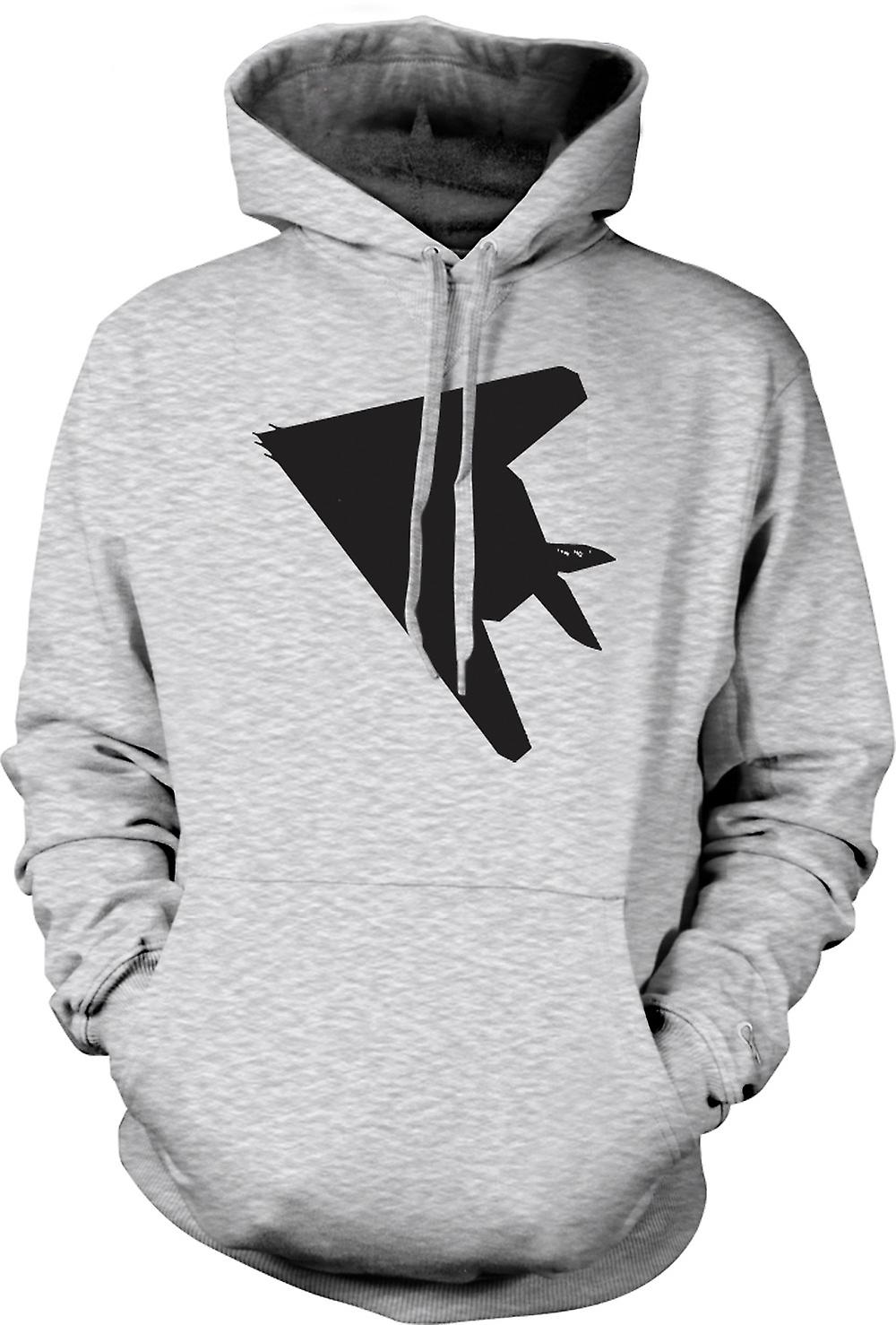 Mens Hoodie - Lockheed F-117 Nighthawk - avion furtif dessous