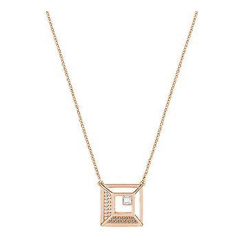 Place du Tertre Swarovski pendentif - Blanc - Rose Gold Plating - 5351080