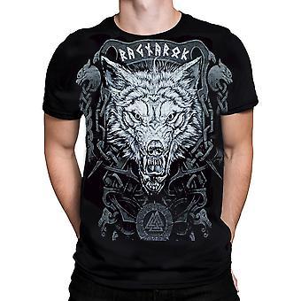 Wild star hearts - ragnarok wolf - mens t-shirt
