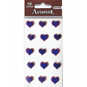 Blue And Pink Hearts Craft Embellishment By Artoz