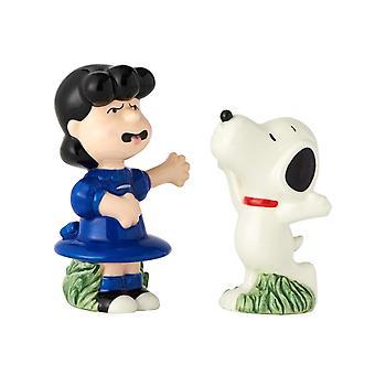 Lucy y Snoopy Peanuts Personajes Salt y Pepper Shakers Licenciados