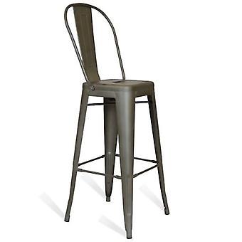 Kuovi Kuovi Metallhocker Mit Rückenlehne (Möbel , Hocker)