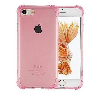 Bakstycket stötsäker TPU 1,5 mm Äpple iPhone 6/6S transparent rosa