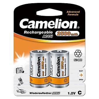 2x Camelion rechargeable C batteries NiMH HR14 2500mAh battery