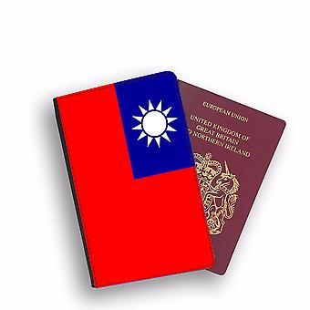 TAIWAN Flag Passport Holder Style Case Cover Protective Wallet Flags design