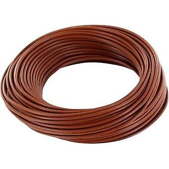 Jumper wire 1 x 0.2 mm² Brown BELI-BECO D 105/10 braun 10 m