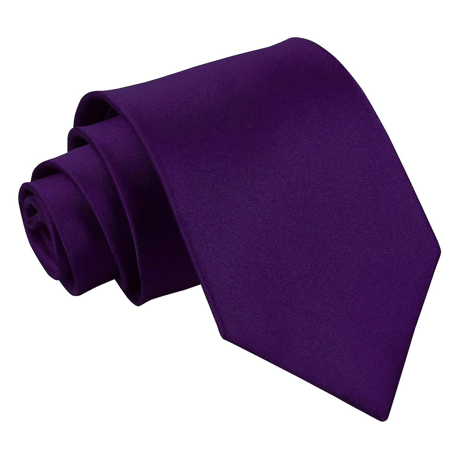 Plain Purple Satin Tie