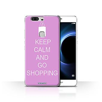 STUFF4/Housse pour Huawei Honor V8/Go Shopping/rose/Keep Calm