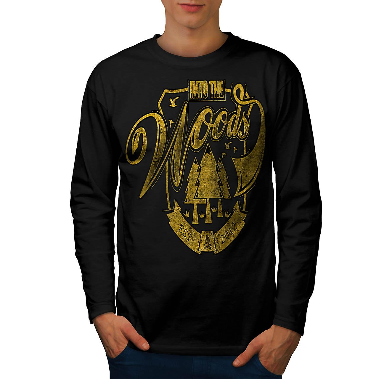 Into The Woods Vintage Men Black Long Sleeve T-shirt | Wellcoda