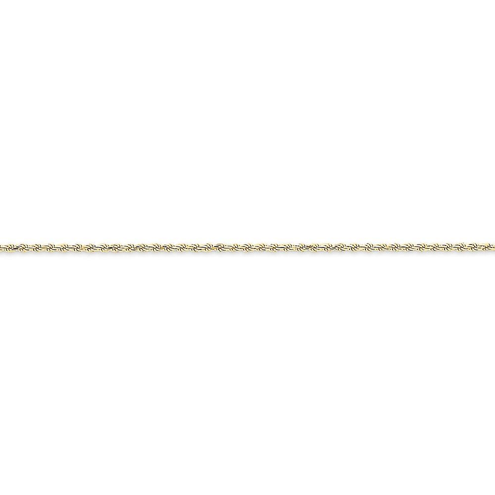 10k jaune or Solid Sparkle-Cut Lobster Claw Closure 2mm Rope Chain - Lobster Claw - Length  16 to 20