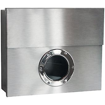 RADIUS letter box stainless steel Letterman XXL with concealed newspaper drawer - 550