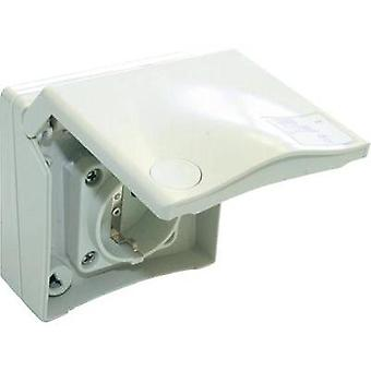 Surface-mount socket Suitable for sports facilities IP44 White PCE 8630v