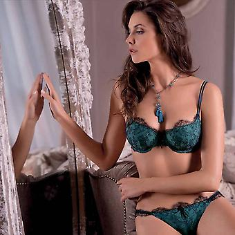 AMBRA SET-moulded bra + tanga-Secret Feelings-blue/turqoise 0399/1395