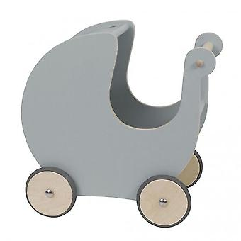 Sebra - Wooden dolls pram - grey