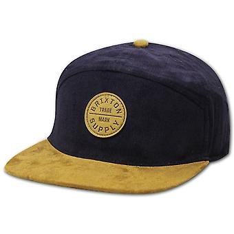 Brixton Oath 7 Panel Baseball Cap Navy Copper