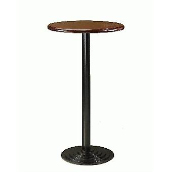 Sant Steel And Wood/ Poseur Table - Round