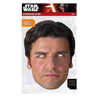 Poe Dameron Official Star Wars The Force Awakens Card Party Face Mask