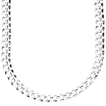 Iced out bling hip hop chain - CUBAN 6 mm silver