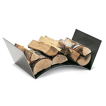 Conmoto log holder wood bridge stainless steel